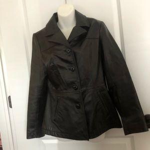 Wilson Black Leather Maxima Jacket